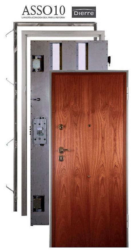 Como está construida una puerta acorzada Dierre