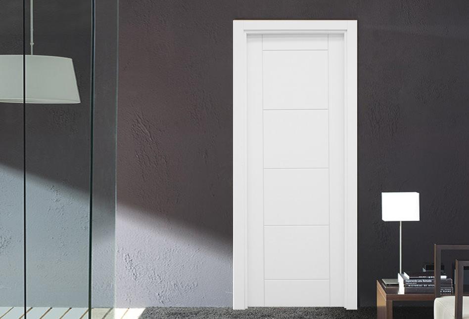 Puertas lacadas blancas lisas en stock Mara Demasa