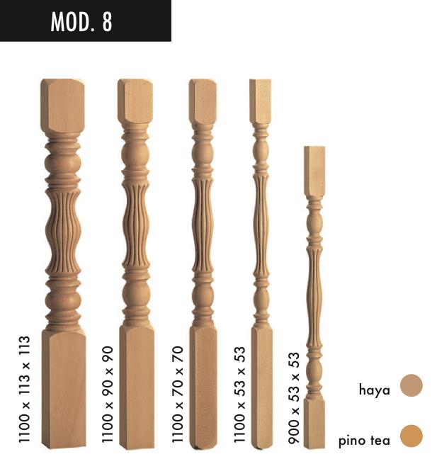 Balaustres y barandillas de madera