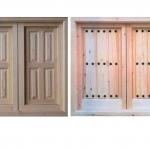 stock ventanas clasicas resuticas pino