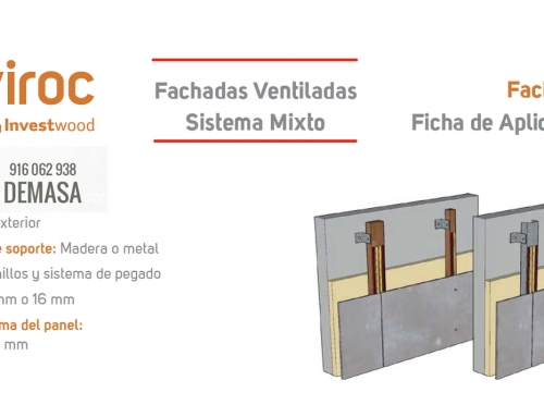 Instalación Viroc Fachada Ventilada con Tornillos y Adhesivo
