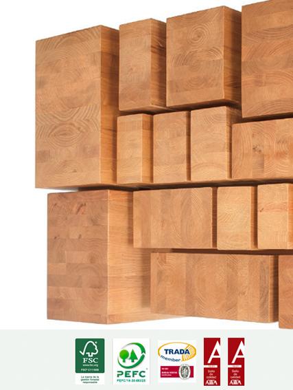 Características vigas laminadas de madera de castaño