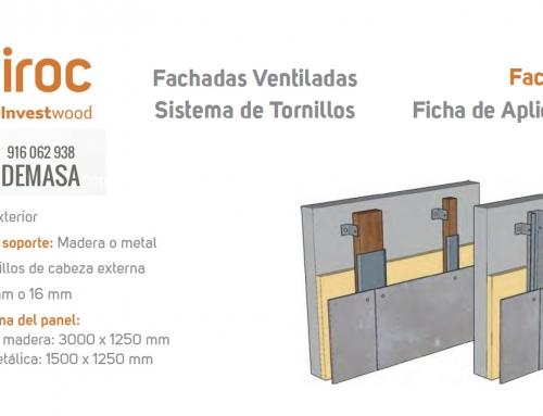 Instalación Viroc con Tornillos en Fachada Ventilada