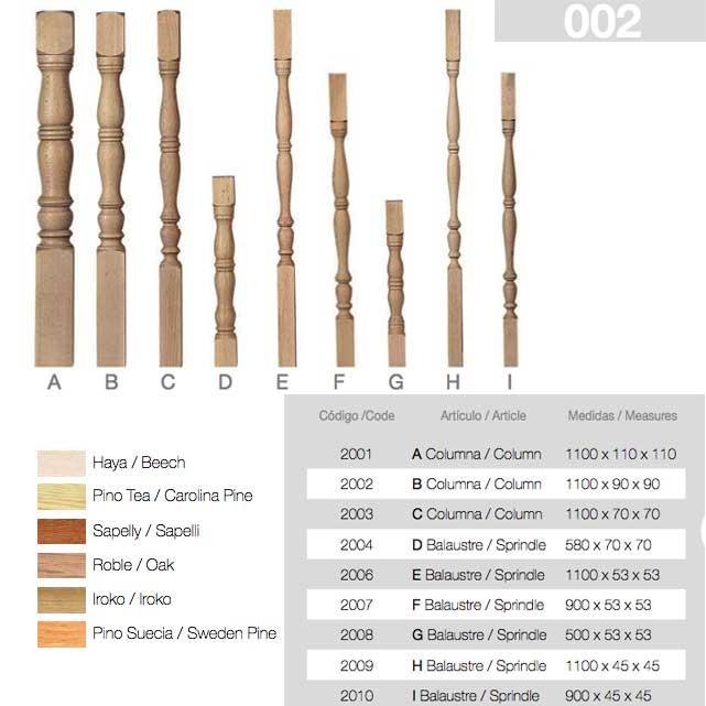 Almacen Balaustre madera haya 002