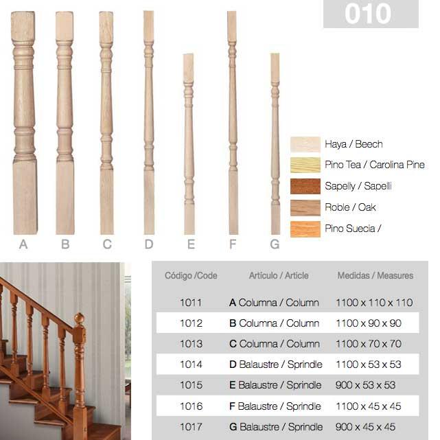 Balaustre madera stock modelos