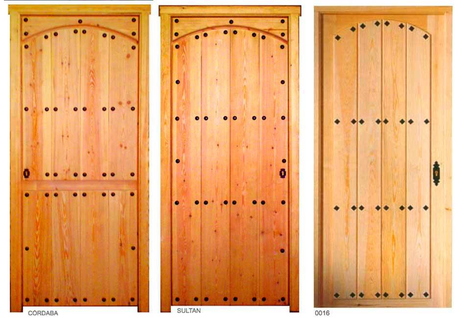Portón rústico madera natural